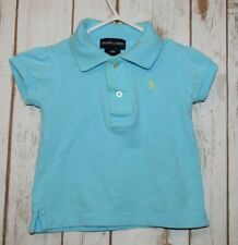 Ralph Lauren short sleeve baby girl Polo pony  size 12 month blue toddler