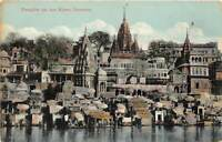 br105241 temples on the river benares india