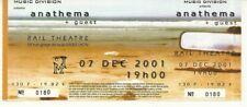 RARE / TICKET BILLET DE CONCERT - ANATHEMA : LIVE LYON ( FRANCE ) 2001