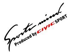 "Sport mind sticker for HONDA CIVIC all types!  8"" vinyl  High quality"