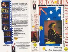 ELTON JOHN AND THE ELTON JOHN BAND VHS PAL VIDEO~A RARE FIND