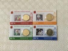 Vatican 4 coincards 2018 Nº 18/19/20/21