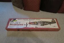 """Vintage Top Flite P-51 Mustang Radio Control Standoff Scale Kit, Incomplete, 60"""""""