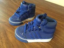 Adidas Americana AdiFit Boys Toddlers Hi-Top Sneakers Shoes - Blue - 4 K