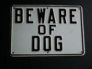 Beware of Dog- Heavy Duty Metal Sign-New