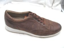 Donald J Pliner Harry brown leather sneakers mens oxfords tennis shoes 46 13M