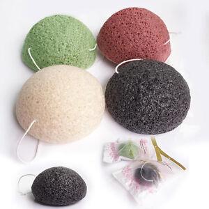 6 Pack Konjac Konnyaku Facial Puff Face Cleanse Washing Sponge Exfoliator Fiber