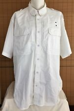 5.11 TACTICAL Mens 2XL Short Sleeve Button Down Taclite Pro White Vented XXL