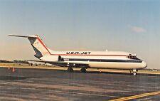 U.S.A. JET DC-9-10  Airplane Postcard