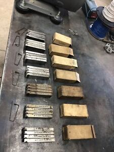 "Lot Of 7 Ridgid 4pc Sets New Old Stock BOLT 500B Dies 1/4""-20 Thru 1 1/4-7"