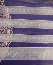 4 border embossing folders,Tattered Lace, RRP £11.99, BN - CURVE SET