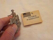 VINTAGE LEAD GENERAL WASHINGTON ON HORSE
