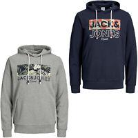 Jack /& Jones Core Hoodie JCOJonah Mens Logo Print Drawstring Hooded L//S Sweater