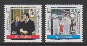 St Helena - 1986, Königliche Hochzeit Set - MNH - Sg 486/7