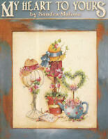 My Heart to Yours Sandra Malone Tole Painting Pattern Book NEW