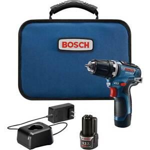 Bosch GSR12V-300B22 12V Max EC Brushless Cordless Drill/Driver Kit w/ Batteries