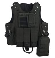 Quick Release Molle Airsoft Vest Assault Mag Plate Carrier Hunting Tactical Vest