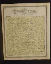 Michigan Hillsdale County Map Wheatland Township 1916  Y9#89