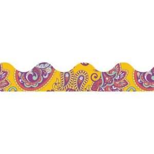 Eureka Positive Paisley Yellow Paisley Deco Trim Border (845630)