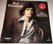 B.J.Thomas Sings Hank Williams & Other Favorites Country LP 22T
