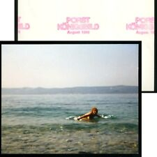 F.K.K.-Foto 1986 JUNGE FRAU / MÄDEL WOHL OBEN OHNE-BAD IM SEE (3) Erotik Nude