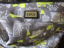 Lulu Handbag Purse By Lulu Guinness YellowAnd Black London Print
