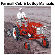 1947-1964 FARMALL CUB Tractor Operation Owners, Maintenance & Parts Manuals CD