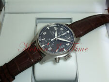 IWC Pilot's Spitfire Flyback Chronograph StainlessSteel Slate Dial 43mm IW387802
