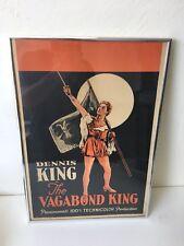 Thr Vagabond King Dennis King Originsl Poster Paramount Technicolor