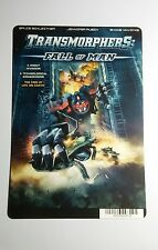TRANSFORMERS FALL OF MAN COVER ART MINI POSTER BACKER CARD (NOT a movie dvd )