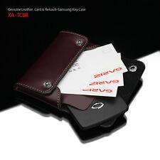 GARIZ Leather Money Card Holder Case Wallet XA-TCBR Brown