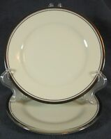 Noritake COUNTESS 7223 Lot of 2 Bread & Butter Plates Cream with Platinum Trim