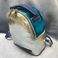 STEVE MADDEN SMALL BACKPACK SILVER AND BLUE