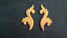 Decorative Accent / Applique Scroll Pair (wood grain) for home decor