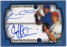 2003 Bowman Dual Auto Q. Carter / C. Hutchinson, Signs of Future, RARE, 1:9,220