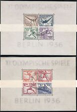 TIMBRE ALLEMAGNE BLOC OBL N° 4 ET 5  JO BERLIN OLYMPISCHE SPIELE 1936