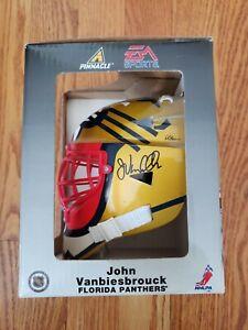 John Vanbiesbrouck SIGNED Florida Panthers EA Mini Goalie Mask Sealed Box - RARE
