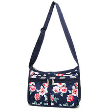 LeSportsac 7507 Deluxe Everyday Bag Navy Rose NWT