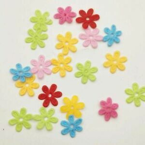 200Pcs 15*15mm Ribbon Flowers Appliques/Headdress/Clothes Decoration DIY