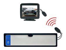 """Rückfahrkamera KFZ Nummernschildhalter mit 3,5 """" Monitor - Funkübertrager"""