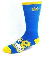For Bare Feet UCLA Bruins Blue Logo Crew Socks Name Down Leg