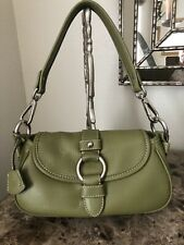 Fashion Handbag Olive Green Leather