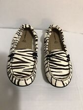 Hush Puppies  Calf Hair Zebra Print Sz 7