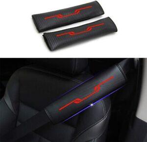 for Toyota Car Seat Belt Shoulder Cover 4D Carbon Fiber Reflective 2Pcs (red)