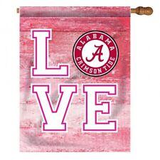 "University of Alabama ""Love"" Pink House Flag"