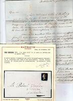 gran bretagna 1840 1 penny black usato su lettera del 14/08/1840.certificato ray