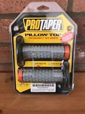 PRO TAPER PILLOW TOP GRIPS HANDLEBAR GRIPS TRI-DENSITY MX GRIPS BLACK ORANGE
