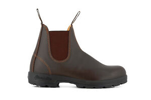 Blundstone 550 Mens Walnut Brown Leather Dress Chelsea Ankle Boots