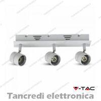Portalampada orientabile da incasso per 3 faretti V-TAC VT-790 bianco freddo
