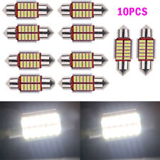 10x 12SMD 4014 31mm White LED Lights Dome Festoon Internal Plate Lamp